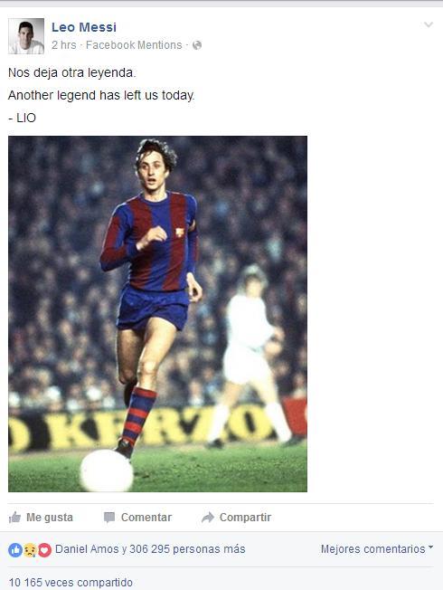 Imagen: Facebook Lionel Messi