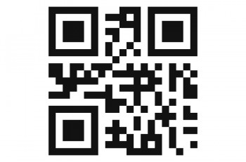Qr code isolated design sample . Modern technologies. Instantaneous transmission information . Isolated qr code create design with presentation space for future qr code information . Blank qr code .