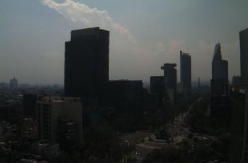 Contingencia en la Ciudad de México. Imagen: Webcams de México.