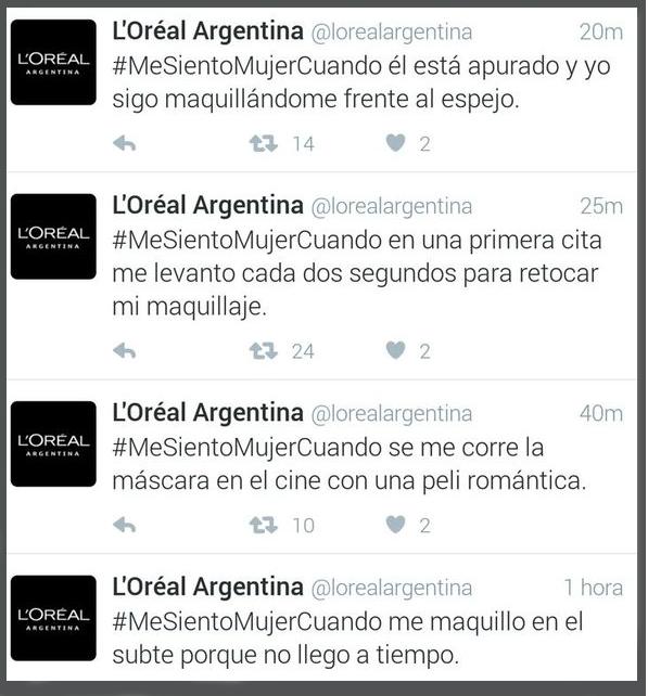 loreal tuits dia de la mujer