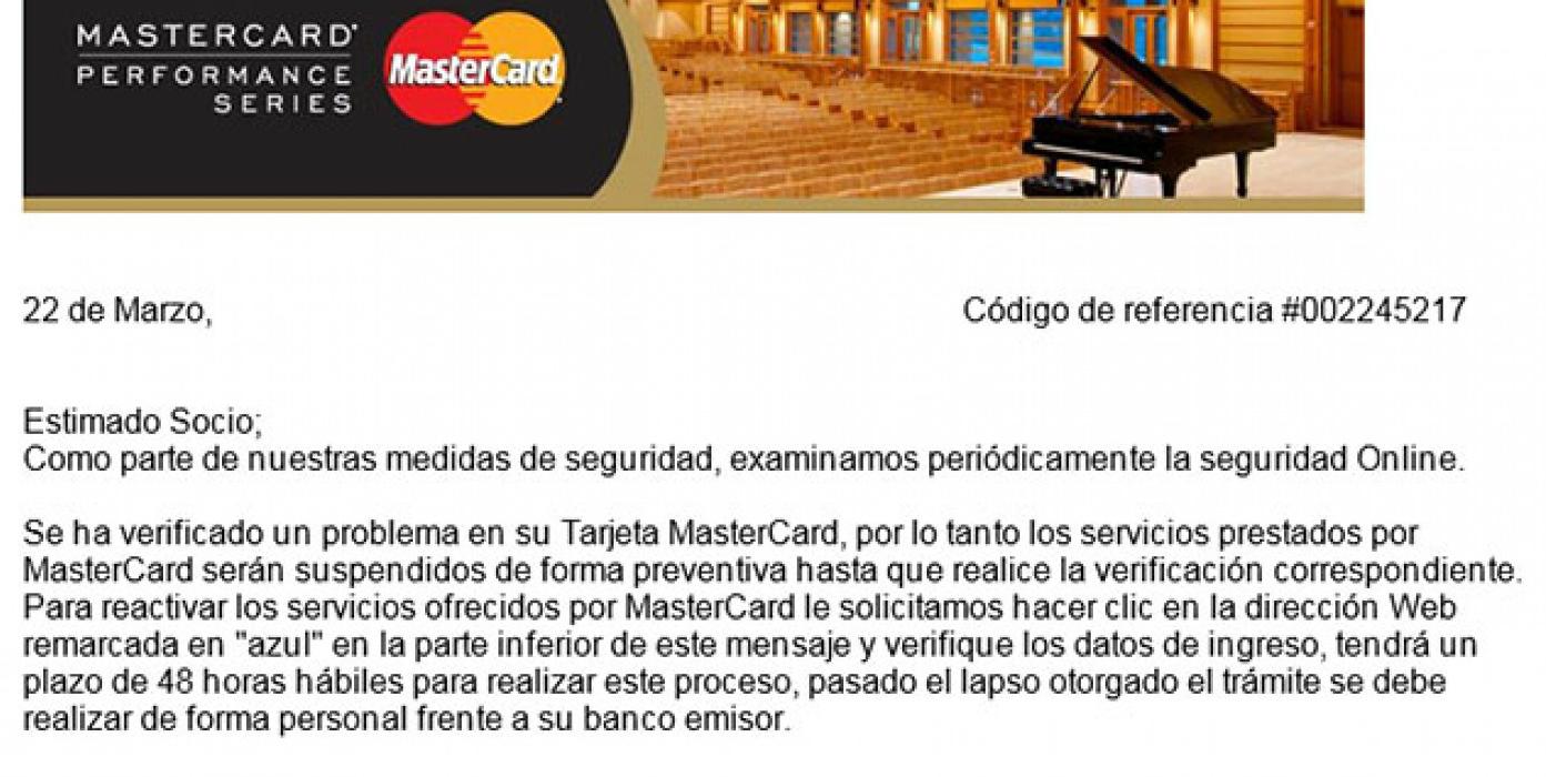 mastercard correos falsos 3