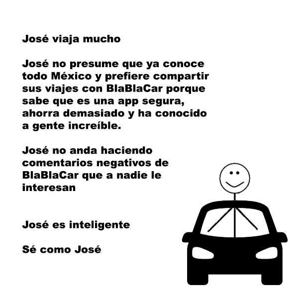 """Marcas como Bla bla car usaron la meme de """"Se como José"""", en una de sus publicaciones de su cuenta de Facebook. Imagen: Facebook (Blablacar)."""