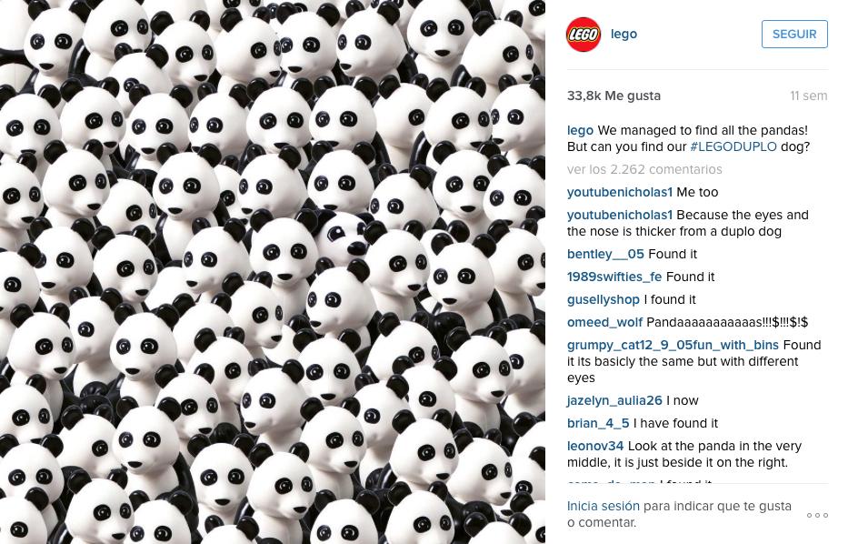 reto viral lego instagram