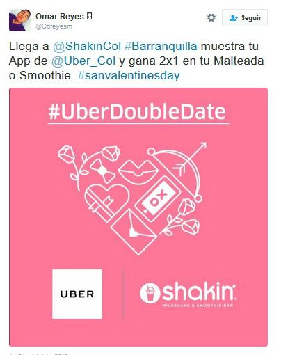 uber 4 dia de los enamorados