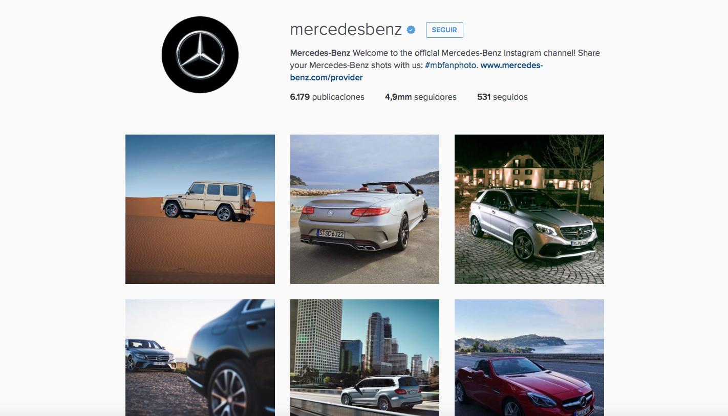 5 consejos clave para triunfar en instagram seg n for Mercedes benz instagram