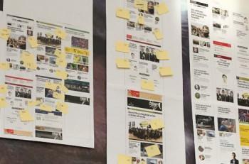 Preparación de nuevo diseño de The Times. Imagen: Twitter.