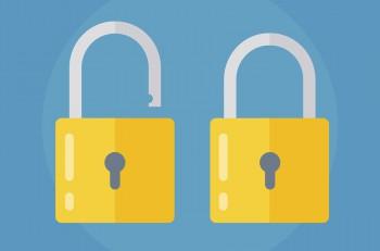 Lock icon. Lock icon in flat style. Lock open. Lock closed. Concept password blocking security. Lock symbol. Lock vector icon. lock icon isolated.