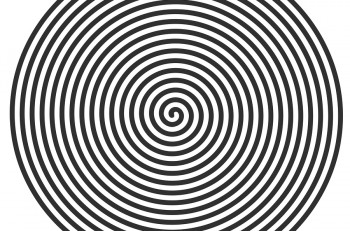 Vector illustration of a large flat spiral. black flat spiral on a white background for use in your design projects.
