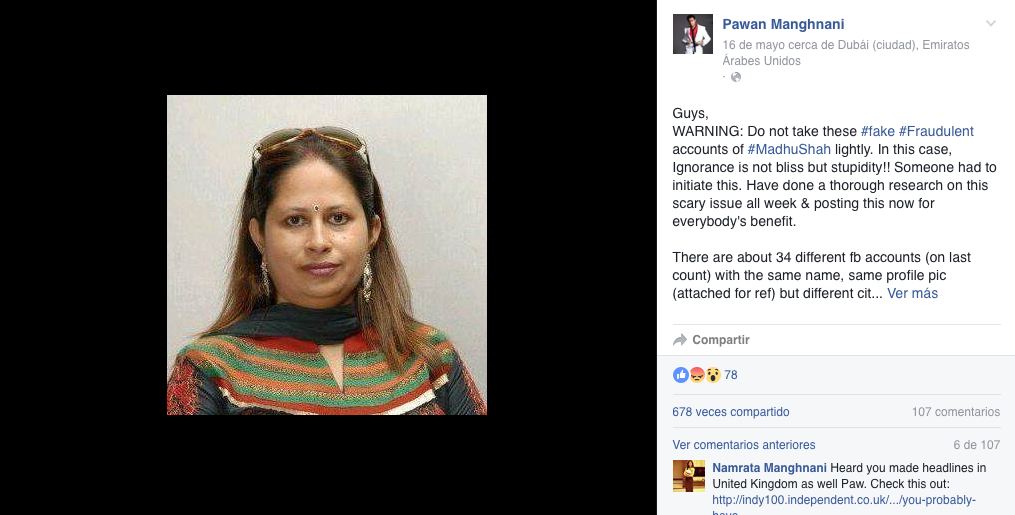 facebook mujer india timo