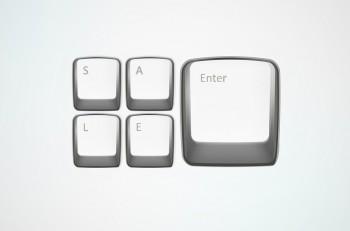 Sale offer vector keyboard. Marketing desugn element. Business concept.