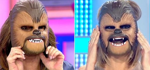 máscara chewbacca televisión españa 1