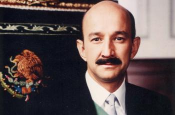 Carlos Salinas de Gortari cuando era presidente.