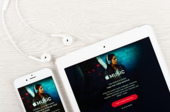 Apple music application on the display of iphone and ipad