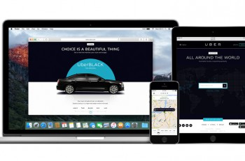 Uber App On The Apple Iphone Display And Desktop Version Of Uber