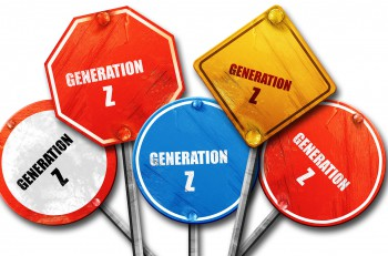 generation z, 3D rendering, rough street sign collection