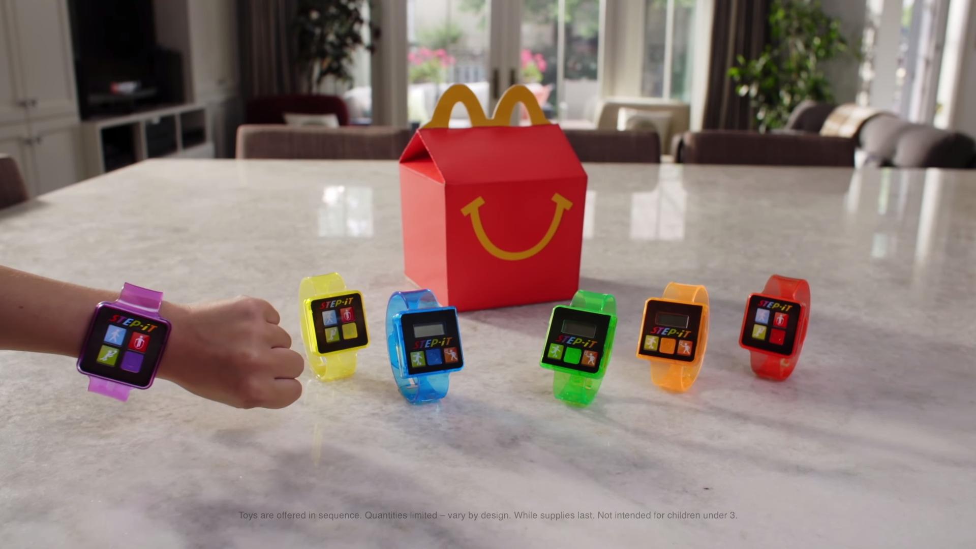 Pulseras para monitorear el ejercicio: el nuevo juguete de la Cajita Feliz de McDonald's