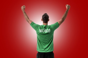 Athlete on Mexico uniform