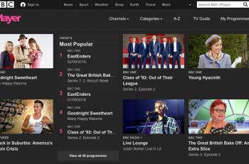BBC iPlayer-Web