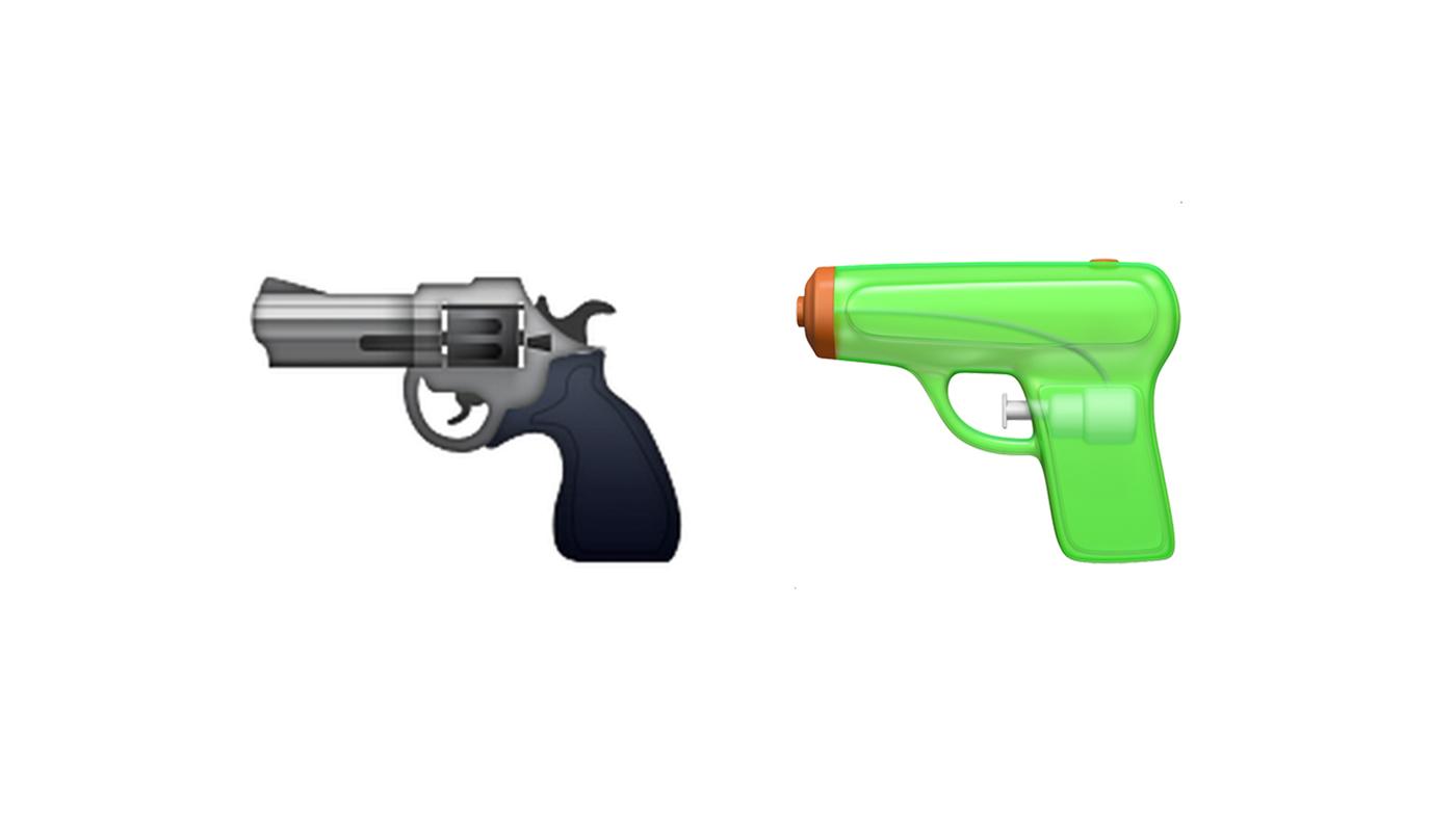 emoji revólver