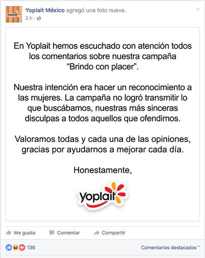 Yoplait pide disculpas tras escándalo de la campaña \