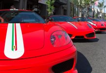 Ferrari On Display