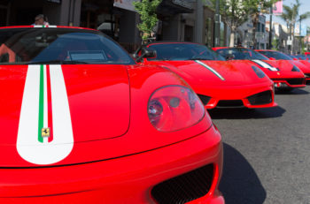 Pasadena USA - April 24 2016: Ferrari on display on display at the 9th Annual Concorso Ferrari event.