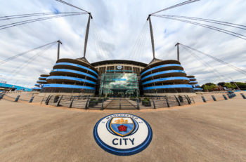 MANCHESTER, UK - AUGUST 14: The Etihad stadium is home to Manchester City English Premier League football club, one of the most successful clubs in England. August 14, 2016 in Manchester, England.