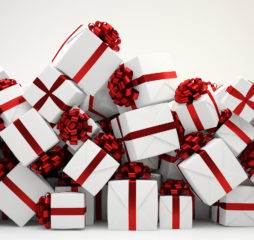 Heap of many christmas or birthday gift boxes (3D Rendering)