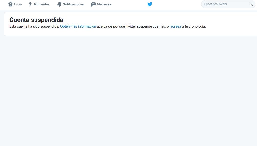 Suspenden cuenta de Twitter de José Luis Higuera — MÉXICO