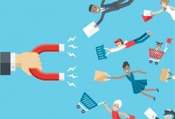 Magnet and happy customers - repeticiones de compra