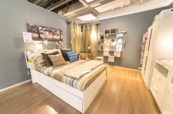 """KUALA LUMPUR MALAYSIA - MAY 22 2016 :Interior furniture store """"Ikea"""" in Malaysia. Founded in Sweden in 1943 Ikea is the world's largest furniture retailer."""