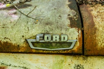 DETROIT MICHIGAN - May 11 2015: The Ford Motor is an American automaker headquartered in Dearborn Michigan a suburb of Detroit. It was founded by Henry Ford and incorporated on June 16 1903