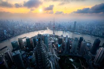 Shanghai skyline cityscape Aerial view of shanghai shanghai lujiazui finance and business district trade zone skyline Shanghai China