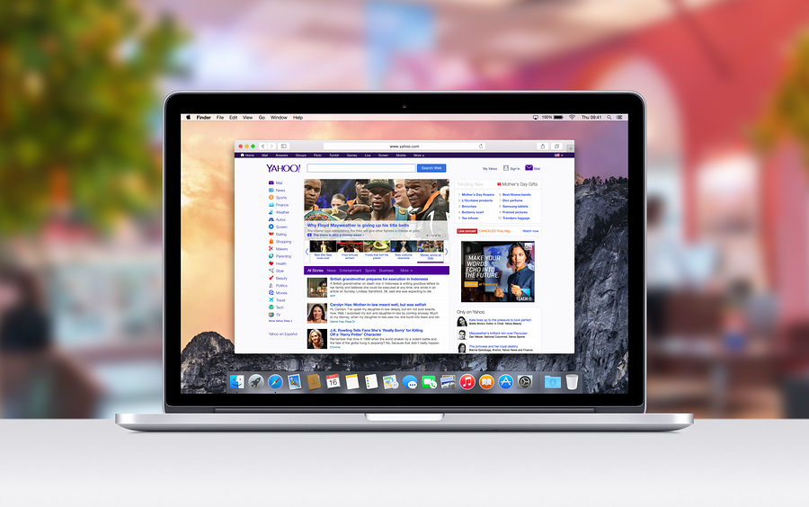 Apple Macbook Pro Retina With An Open Tab In Safari Which Shows