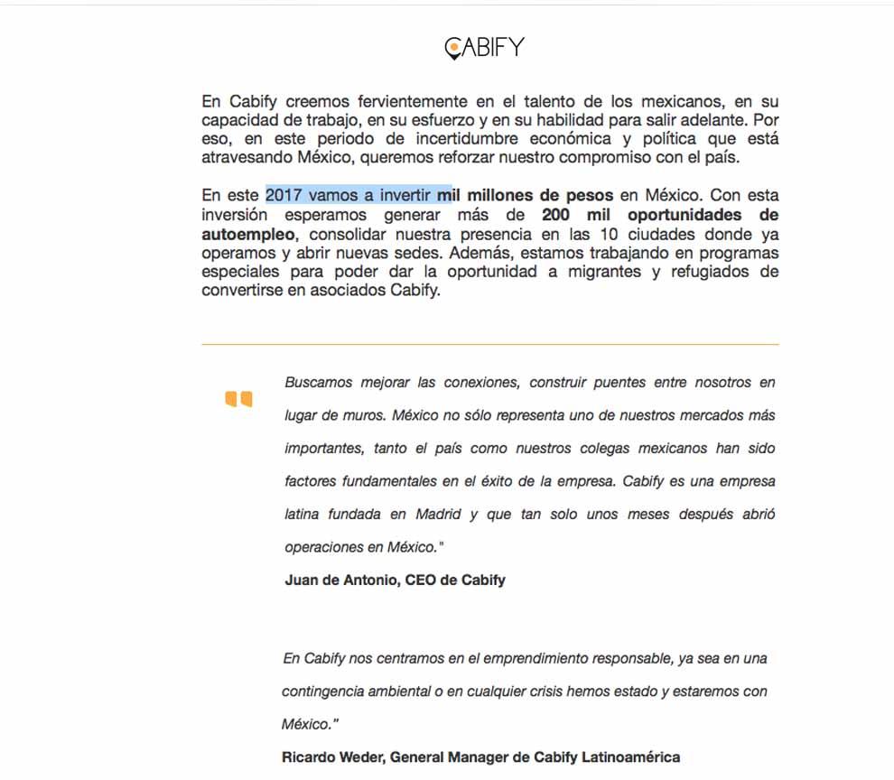 cabify_comunicado
