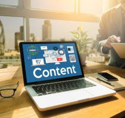 Content marketing online concept Content Data Blogging Media Publication Content marketing Content Strategy digital content and online webinar Media Global Daily News Content Content marketing