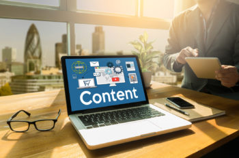 Content marketing online concept Content Data Blogging Media Publication Content marketing Content Strategy digital content and online webinar Media Global Daily News Content Content marketing