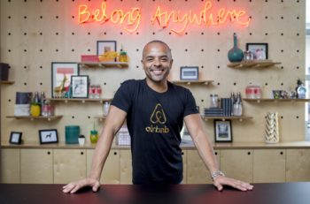 Jonathan Mildenhall, CMO - Airbnb. Photographed at the Airbnb Sydney offices. 26/2/2016 Photo credit - James Horan for Airbnb.