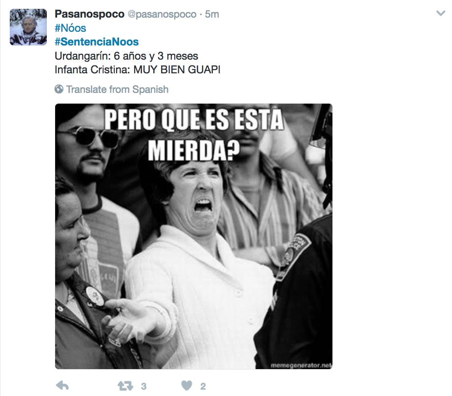 """España: absuelta infanta Cristina en caso de fraude fiscal"""""""