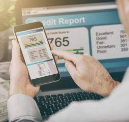 report credit score banking borrowing application risk form document loan business market policy deployment data check workplace concept - stock image