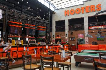 PATTAYA THAILAND - 22 NOV 2016: View of internal Hooters restaurant in Pattaya Thailand