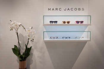 MILAN ITALY - MARCH 1: Marc Jacobs glasses on display at Mido international exhibition for optics optometry and ophtalmology on MARCH 1 2014 in Milan.