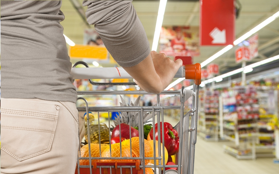 Shopping Supermarket Groceries Shopping Cart Customer Retail Women ** Note: Soft Focus at 100%, best at smaller sizes