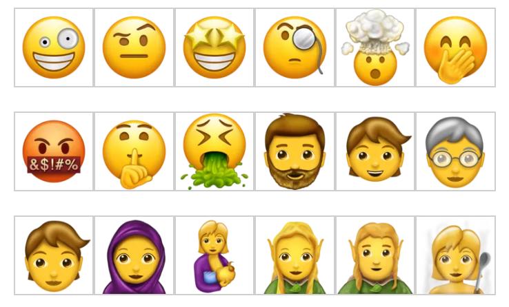¿Sabes cuáles son los nuevos 69 emojis para 2017?