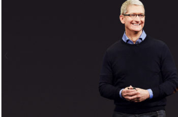 PARIS FRANCE - MAR 23 2016: Results of the latest Apple keynote with the Apple.com website presenting Tim Cook Apple CEO and the invitation to watch the March Event in reply