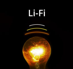 Glowing bulb with atom explosion inside - lifi technology