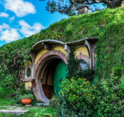 MATAMATA, NEW ZEALAND, JULY 25, 2012: Bilbo Baggins house in Lord of the Rings location Hobbiton Matamata New Zealand
