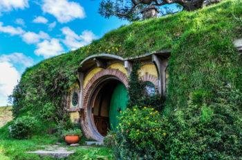 MATAMATA, NEW ZEALAND, JULY 25, 2012: Bilbo Baggins house in Lord of the Rings location Hobbiton Matamata New Zealand