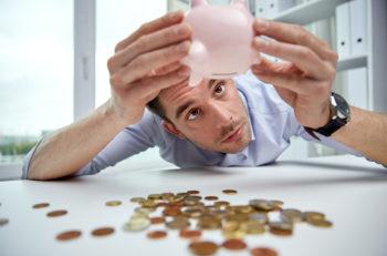 business, people, finances, crisis and money saving concept - bu