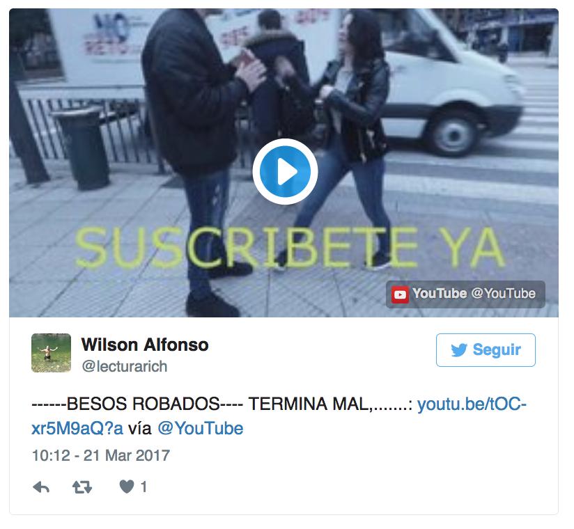 Denuncian por acoso a youtuber que besaba a jóvenes sin su consentimiento